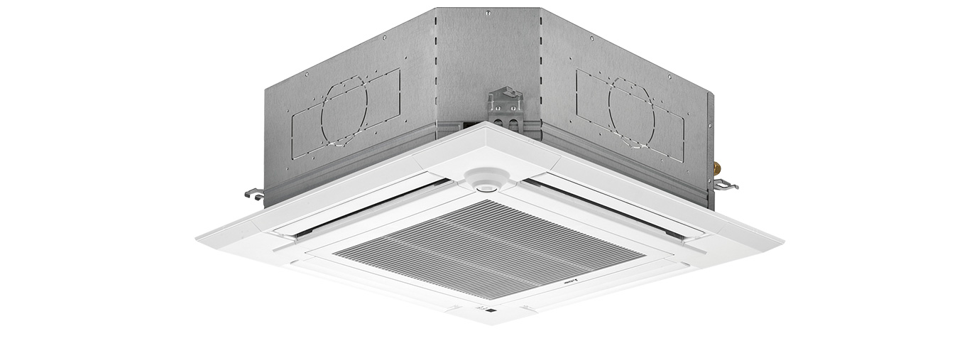 4-way ceiling cassette with filter lift